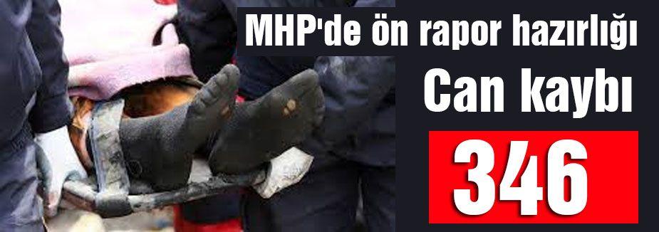 MHP Raporu: Can kaybı 346