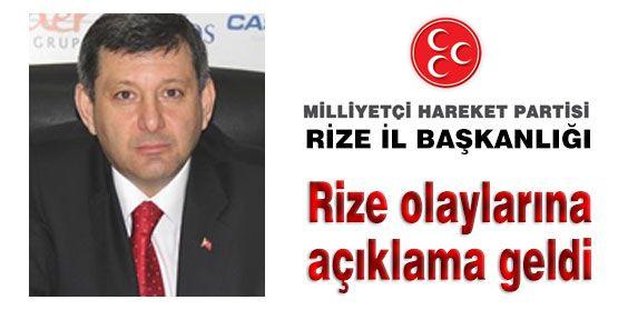 MHP Rize olaylarına açıklık getirdi