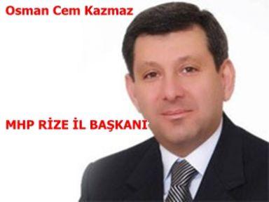 MHP Rize'de Başkan Değişimi
