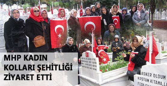MHP Samsun Kadın Kolları Şehitliği Ziyaret Etti