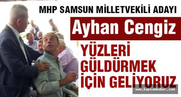 MHP Samsun Vekil Adayı Cengiz, Tekkeköy'de esnaf Ziyaretinde Bulundu
