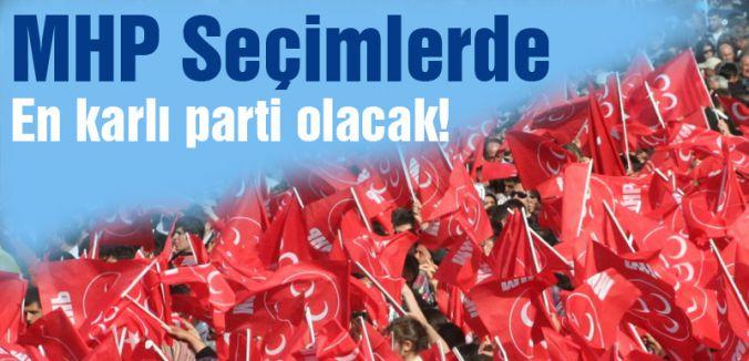 MHP Seçimlerde en karlı Parti Olacak!