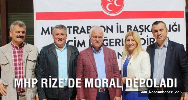 MHP Trabzon ve Rize'de Moral Depoladı
