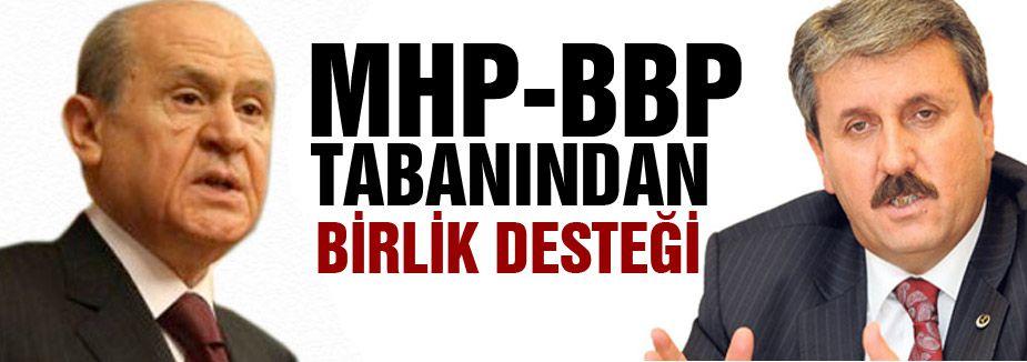 MHP ve BBP Tabanı Birlikten yana