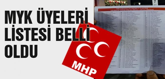 MHP yeni MYK Üyeleri belli oldu