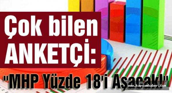 'MHP YÜZDE 18'İ AŞACAK, AKP BATMAKTA OLAN BİR GEMİ'