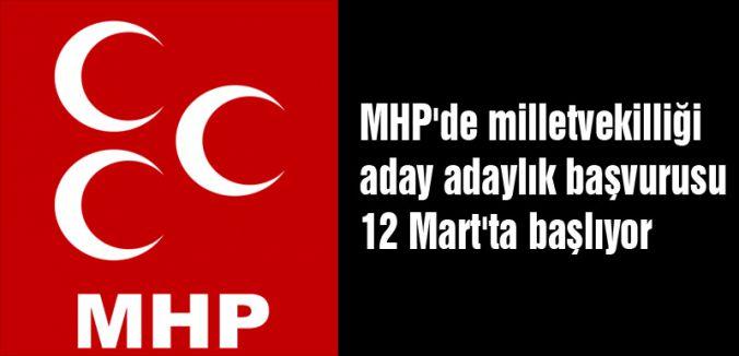 MHP'den Adaylıkla İlgili Açıklama