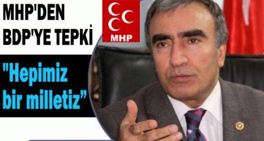 MHP'DEN BDP'YE TEPKİ!
