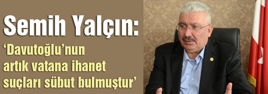 MHP'den Davutoğlu Açıklaması