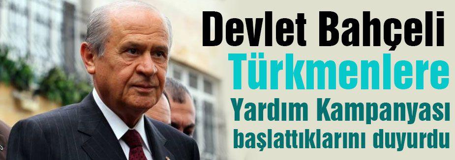 MHP'den Türkmenlerine Yardım Kampanyası