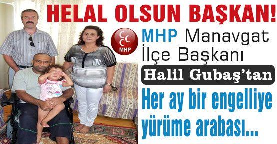 MHP'li Başkan'dan engelliye yardım eli...