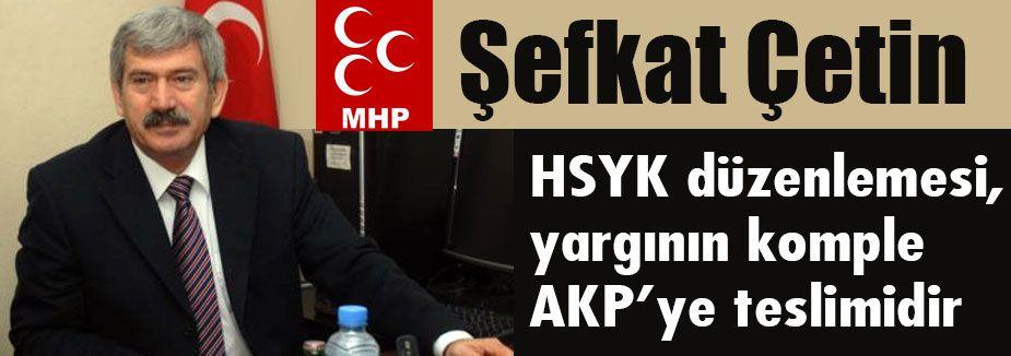MHP'li Çetin: 'Hırsızlığa dur demenin vakti gelmiştir'