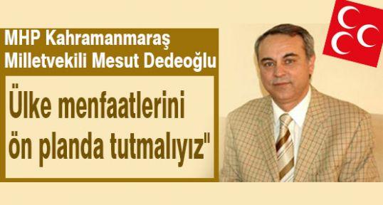 MHP'li Dedeoğlu: