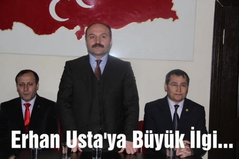 MHP'li Erhan Usta'ya Büyük İlgi...