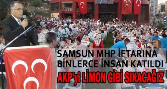 """MHP'Lİ KILIÇ: """"AKP'Yİ LİMON GİBİ SIKACAĞIZ"""""""