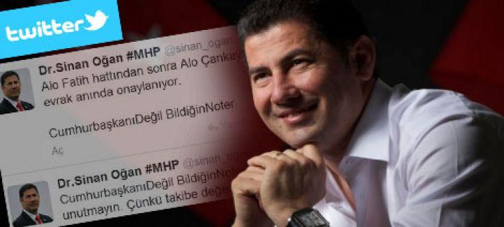"""MHP'li Oğan: """"Alo Çankaya hattı..."""""""