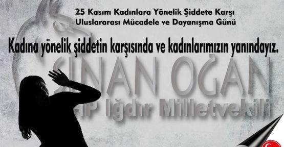 MHP'li Oğan: Kadına karşı şiddeti kınıyoruz