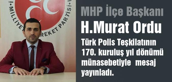 MHP'li Ordu; Polis gününü kutluyorum