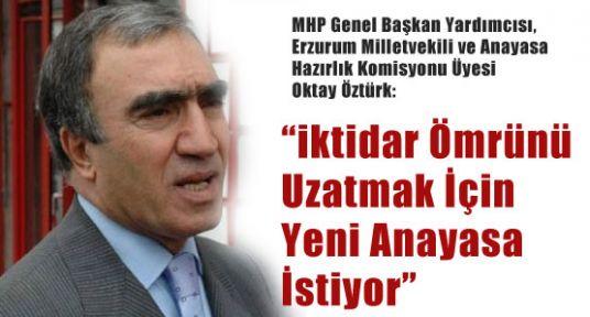 MHP'li Öztürk, Önce Bizim ÖdediğimizBedeli Ödeyin