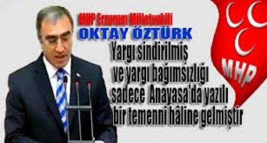 Mhp'li Öztürk'ten Anayasa Konferansı