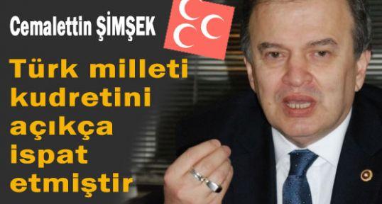 MHP'li Şimşek'in 30 Ağustos mesajı