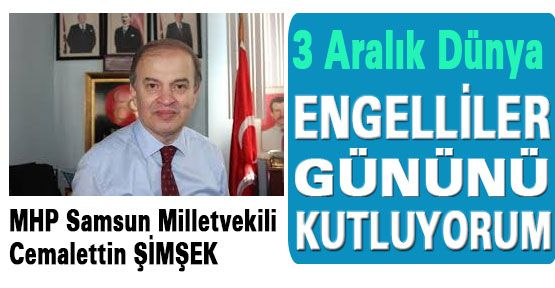 MHP'li Şimşek'in Engelli Duyarlılığı