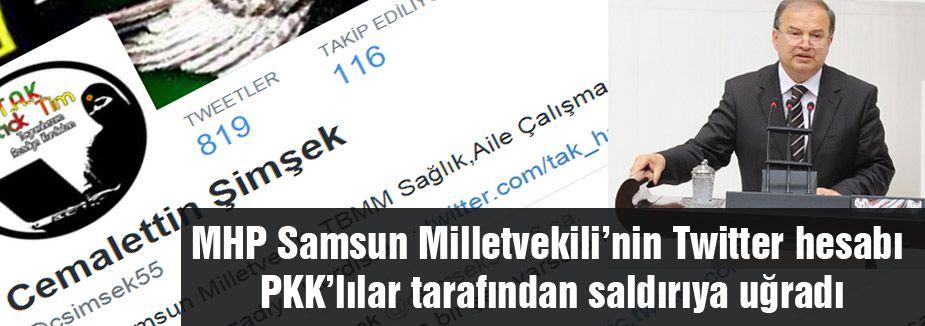 MHP'li Vekil Şimşek PKK'lı hackerların saldırısına uğradı