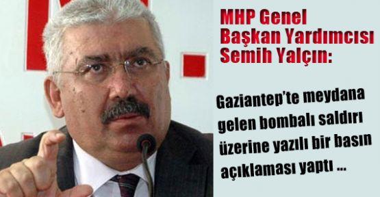 MHP'li Yalçın Teröre Destek Verenler Mecliste Barındırılmamalıdır