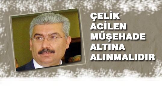 MHP'li Yalçın:''Çelik acilen Müşahade Altına Alınmalı