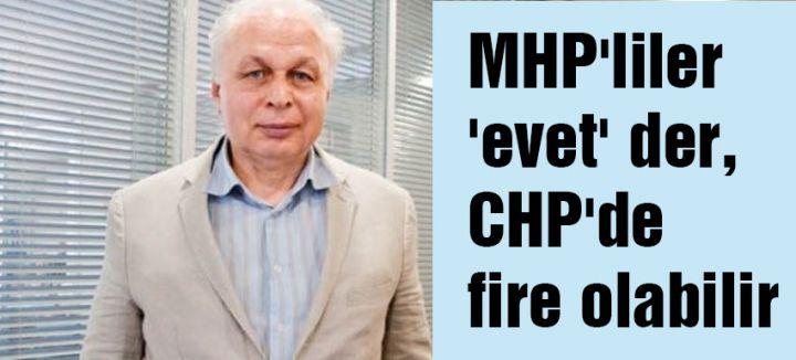 MHP'liler 'evet' der, CHP'de fire olabilir