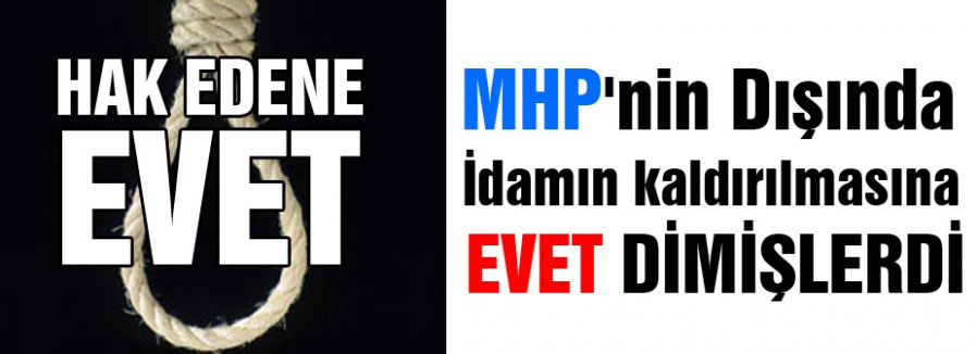 MHP'nin Dışında 'EVET'demişlerdi