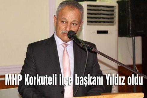 MHP'nin Korkuteli Başkanı Süleyman Yıldız oldu