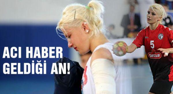 Milli sporcu acı haberi aldığı an...