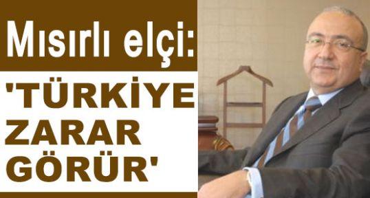 """Mısır elçisi; """"Türkiye zarar görür"""""""