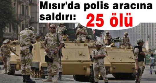 Mısır'da polis aracına saldırı