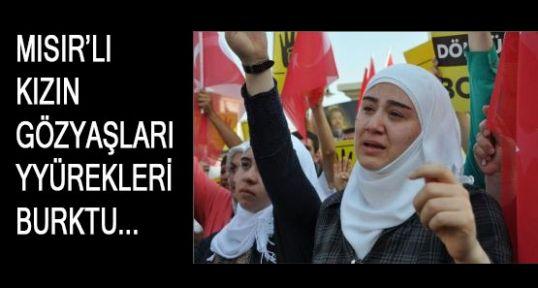 Mısırlı genç kızın gözyaşları