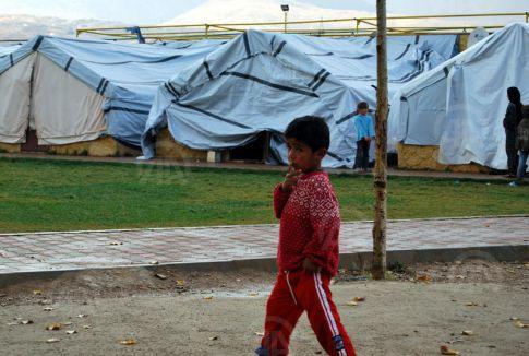 Mülteci kampında büyük dram...