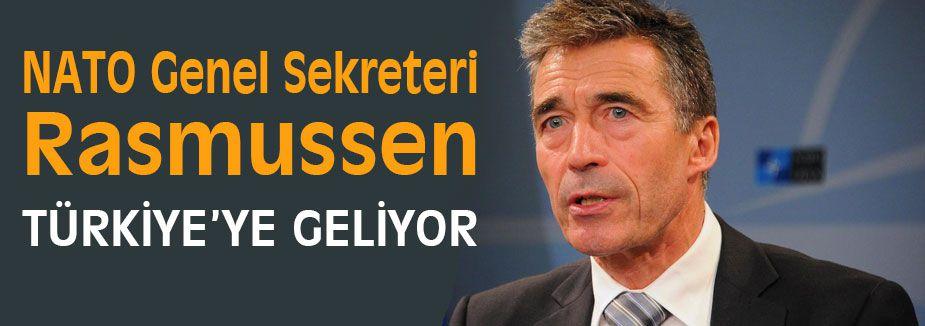 NATO Genel Sekreteri Rasmussen Türkiye'ye geliyor