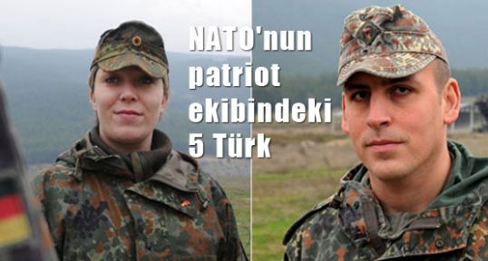 NATO patriot'de 5 Türk