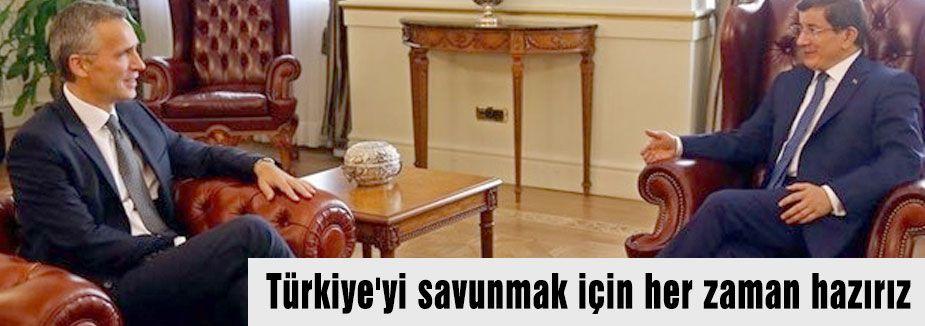NATO Türkiye'yi savunmaya hazırız