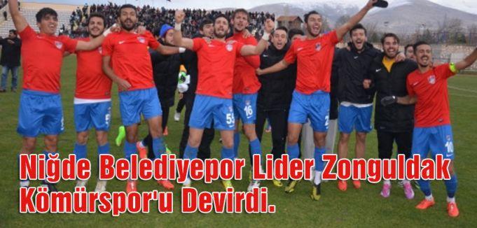 Niğde Belediyespor Lider Zonguldak Kömürspor'u Devirdi