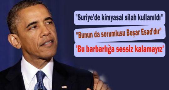 Obama 'Bu barbarlığa sessiz kalamayız'