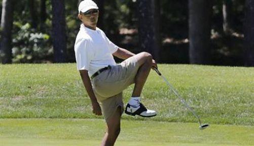 Obama Stersini Golf Oynayarak Attı...