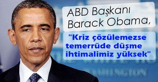Obama'dan temerrüt uyarısı