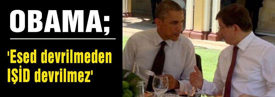 Obama:'Esed devrilmeden IŞİD devrilmez'