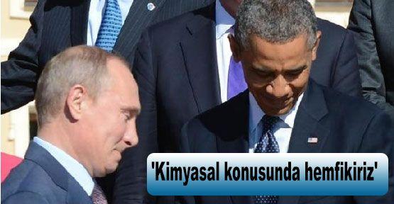 Obama:'Kimyasal konusunda hemfikiriz'
