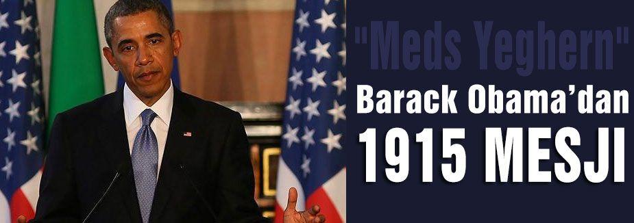 Obama'nın 1915 açıklaması