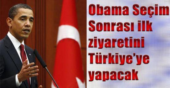 Obama'nın İlk Ziyareti Türkiye'ye