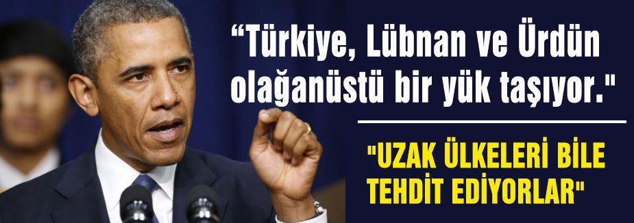 Obama:'Türkiye Ağır Yükler Taşıyor'