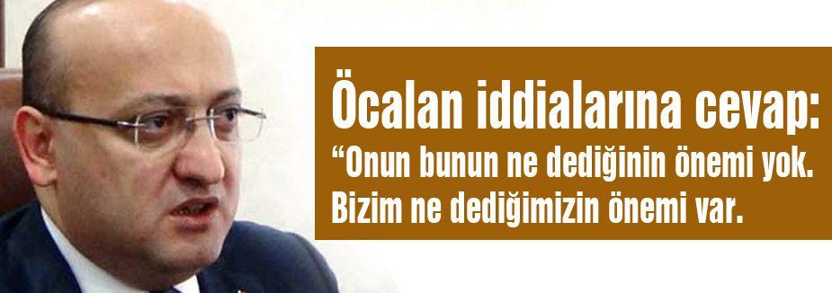 Öcalan iddialarına Akdoğan'dan cevap!